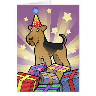 Birthday Airedale Terrier / Welsh Terrier Greeting Card