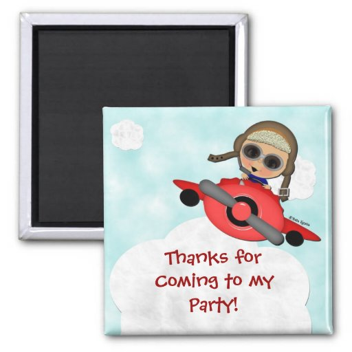 Birthday Airlines Party Magnet Favor
