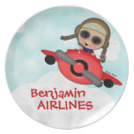Birthday Airlines Plate