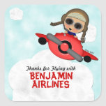Birthday Airlines Stickers