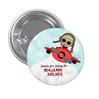 Birthday Airplane Button