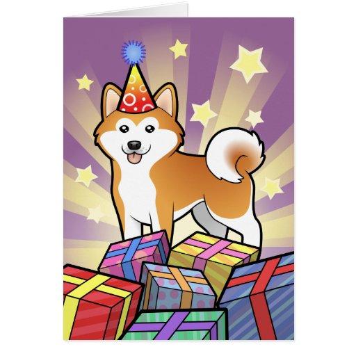 Birthday Akita Inu / Shiba Inu Card