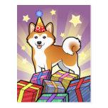 Birthday Akita Inu / Shiba Inu Post Card