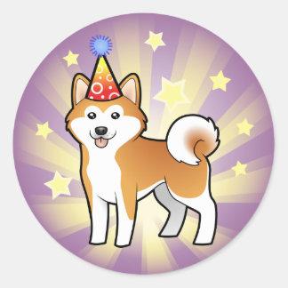 Birthday Akita Inu / Shiba Inu Sticker