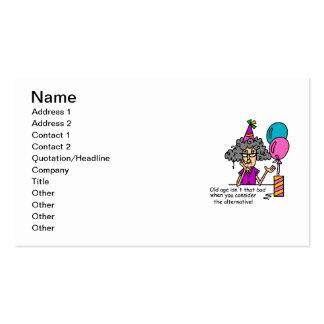 Birthday Alternative Humor Business Card Templates