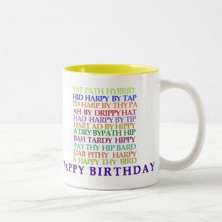 Birthday Anagrams mug