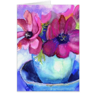 birthday anemones card