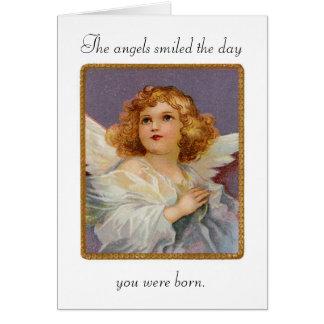 Birthday Angels Smiled Greeting Card