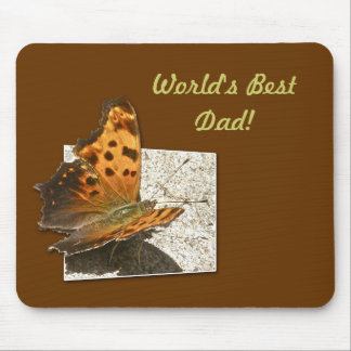 Birthday Angle Wing Comma Butterfly Mouse Pad