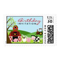 Birthday Animals Invitation Medium Stamps
