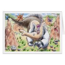 Birthday Anteater Card