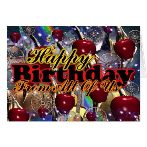 Birthday Apple Wheel by Valxart Cards