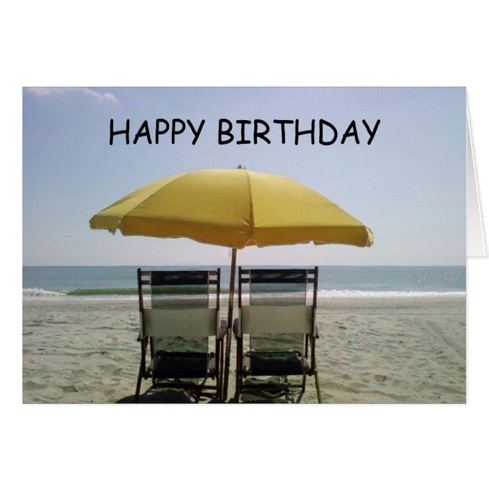 BIRTHDAY AT THE BEACH-ENJOY CARD