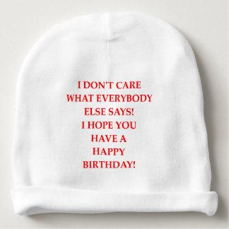 birthday baby beanie
