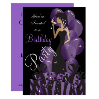 Birthday | Bachelorette Cocktail Girl's Party Card