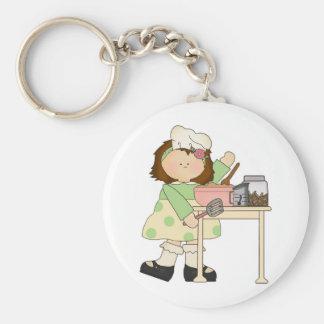 Birthday Baker Girl Keychain