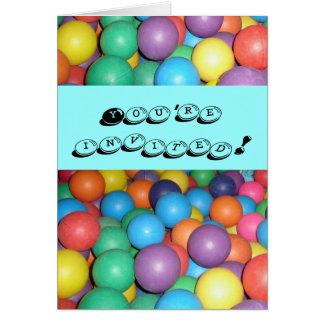 Birthday Ball invitation Stationery Note Card