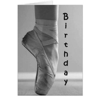 BIRTHDAY BALLET STYLE-DANCE/ENJOY CARD