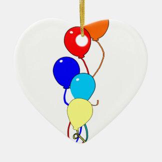 Birthday Ballons Ceramic Ornament