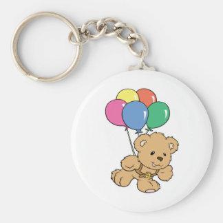 Birthday Balloon Bunch Teddy Bear Keychain