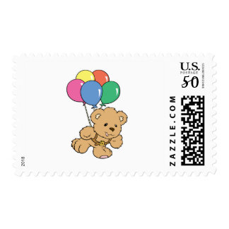 Birthday Balloon Bunch Teddy Bear Postage