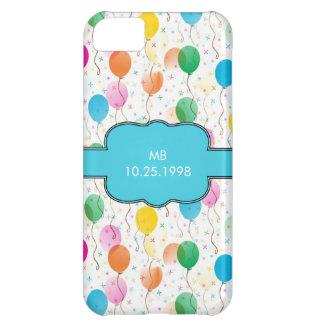 Birthday Balloon Keepsake Custom Monogram and Date iPhone 5C Cover