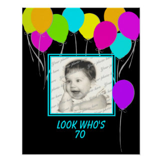 Birthday Balloon Photo Poster