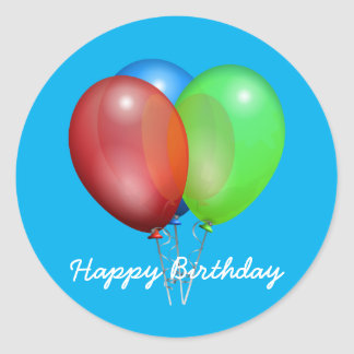 Birthday Balloon Stickers