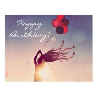 Birthday Balloon Sunshine Postcard