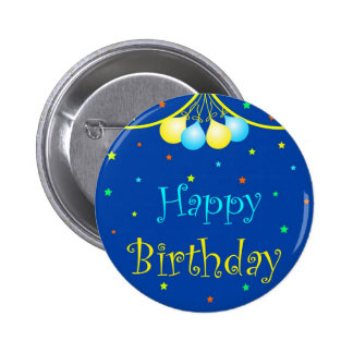 Birthday balloons 2 inch round button