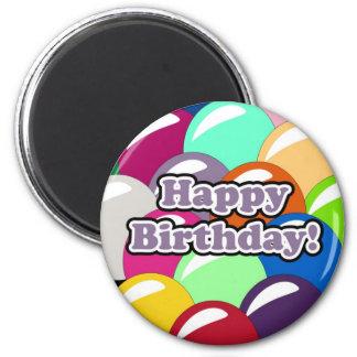 Birthday Balloons 2 Inch Round Magnet