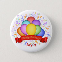 Birthday Balloons & Banner Button