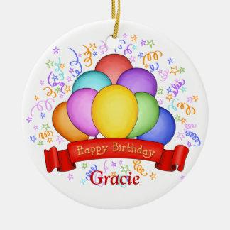 Birthday Balloons & Banner Ornament