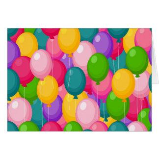 Birthday Balloons Greeting Cards