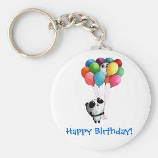 Birthday Balloons Panda Bear Key Chains