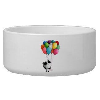 Birthday Balloons Panda Bear Dog Food Bowl