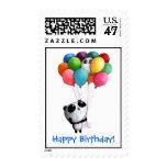 Birthday Balloons Panda Bear Postage Stamp
