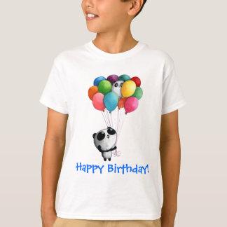 Birthday Balloons Panda Bear T-Shirt