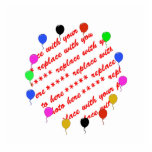 Birthday Balloons Photo Frame Acrylic Cut Outs