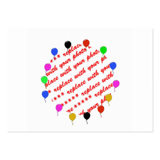 Birthday Balloons Photo Frame Business Card Template