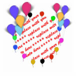 Birthday Balloons Photo Frame Cut Out