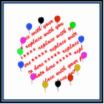 Birthday Balloons Photo Frame Photo Cut Out