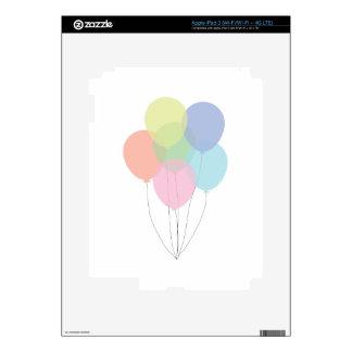 Birthday Balloons Skin For iPad 3
