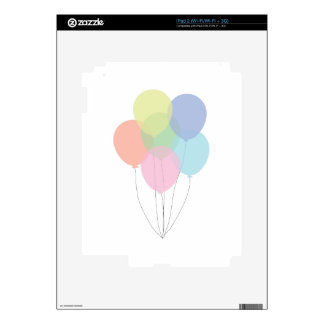 Birthday Balloons Skin For The iPad 2