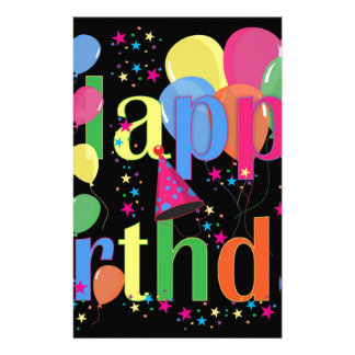Birthday Balloons Stationery