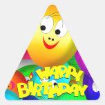 Birthday Balloons Triangle Sticker