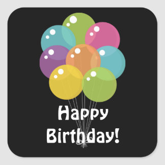 Birthday Balloons unisex party sticker