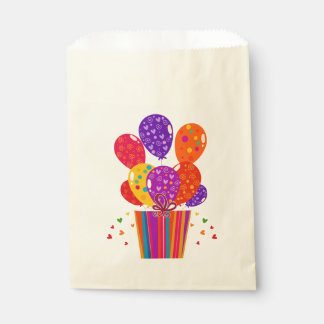 Birthday Balloons with Gift Favor Bag