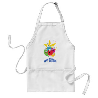 Birthday Balloons With Stars Adult Apron