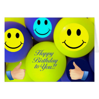Birthday Baloons greeting card